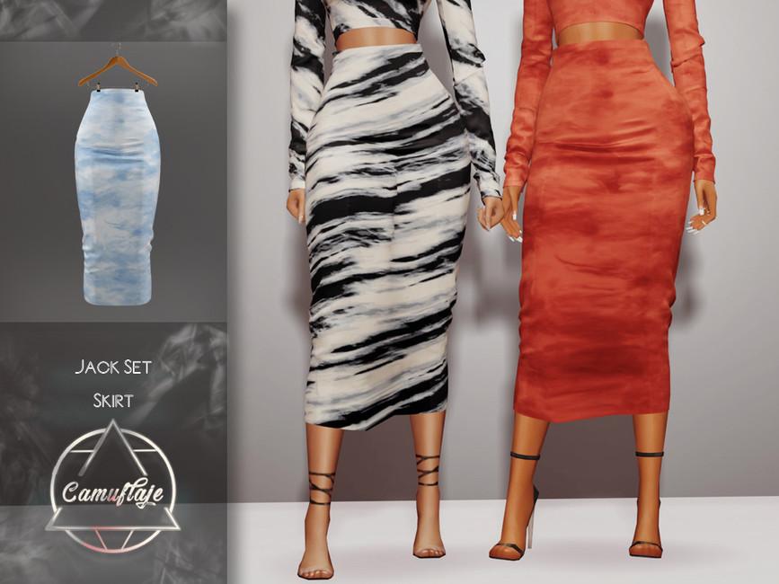 Длинные юбки Симс 4