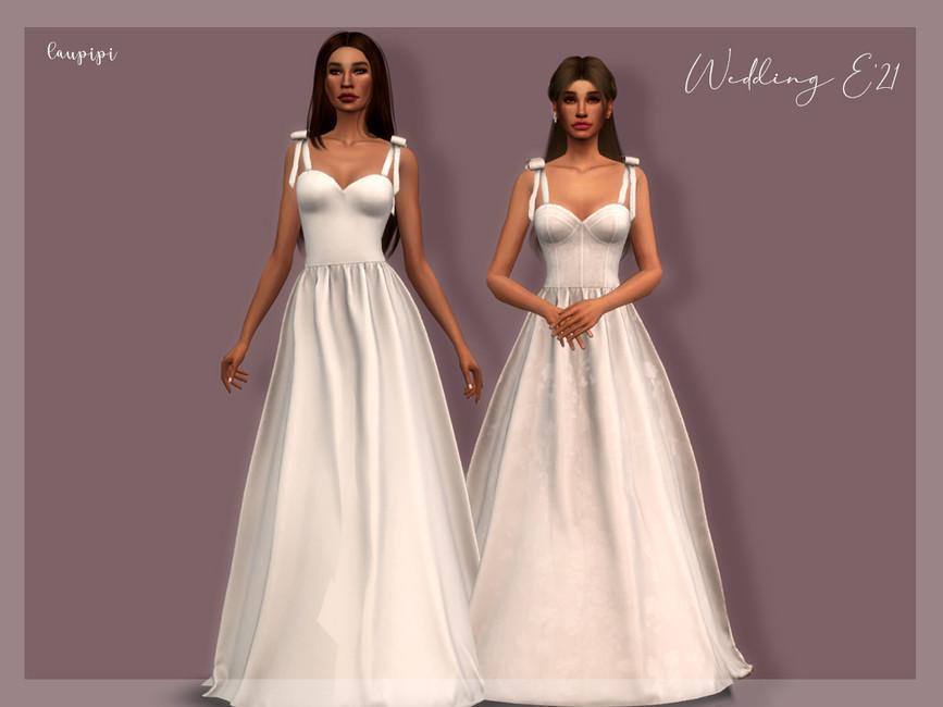 Дополнение свадебное платье Симс 4