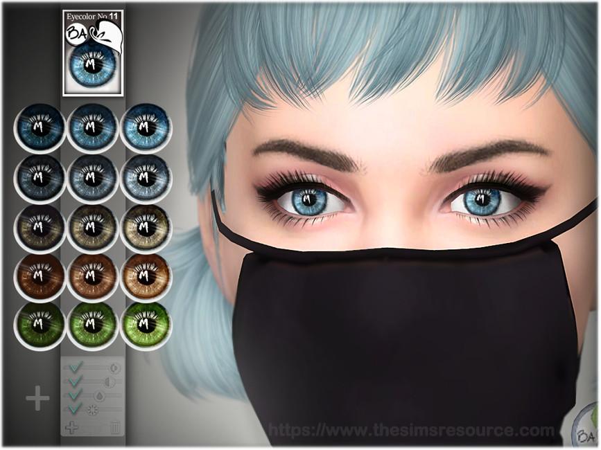 Глаза Natural Eye Colors 11 для Симс 4