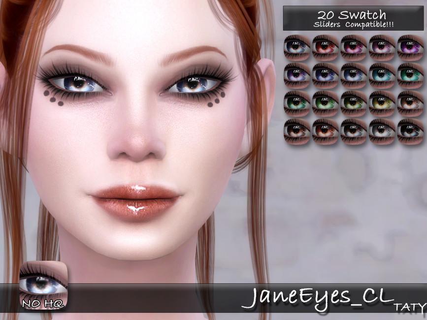 Глаза Taty_JaneEyes_CL для Симс 4