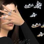 Кольца Diamond Cluster Rings Симс 4