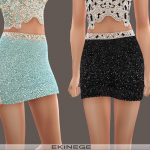Мини юбка Beaded Mini Skirt Симс 4