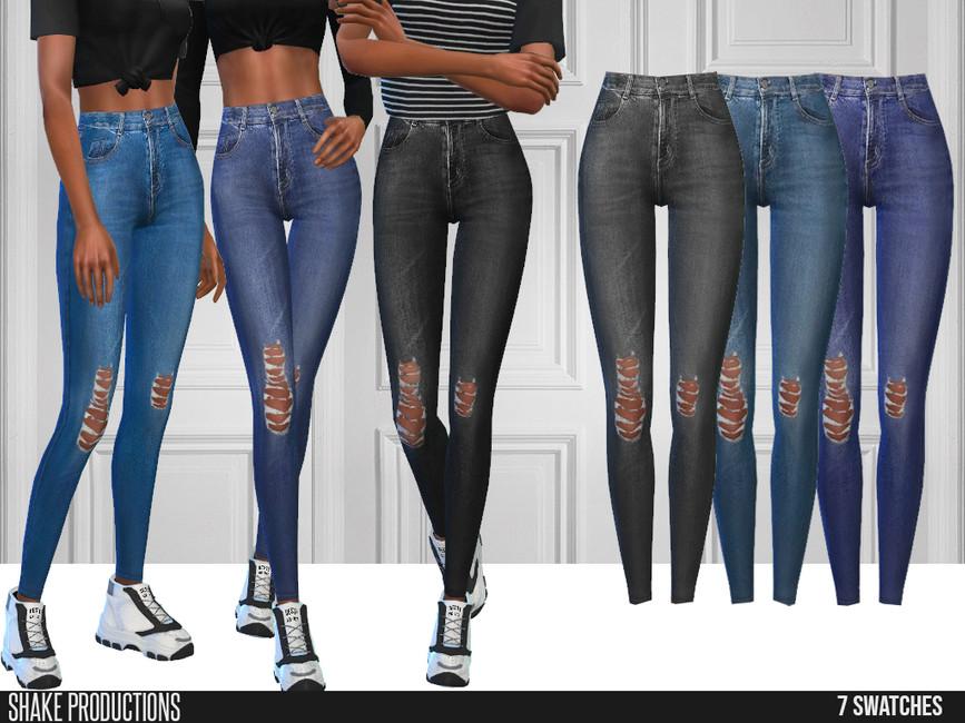 Моды джинсы для девушек Симс 4