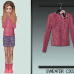 Моды кофты для девушек Симс 4