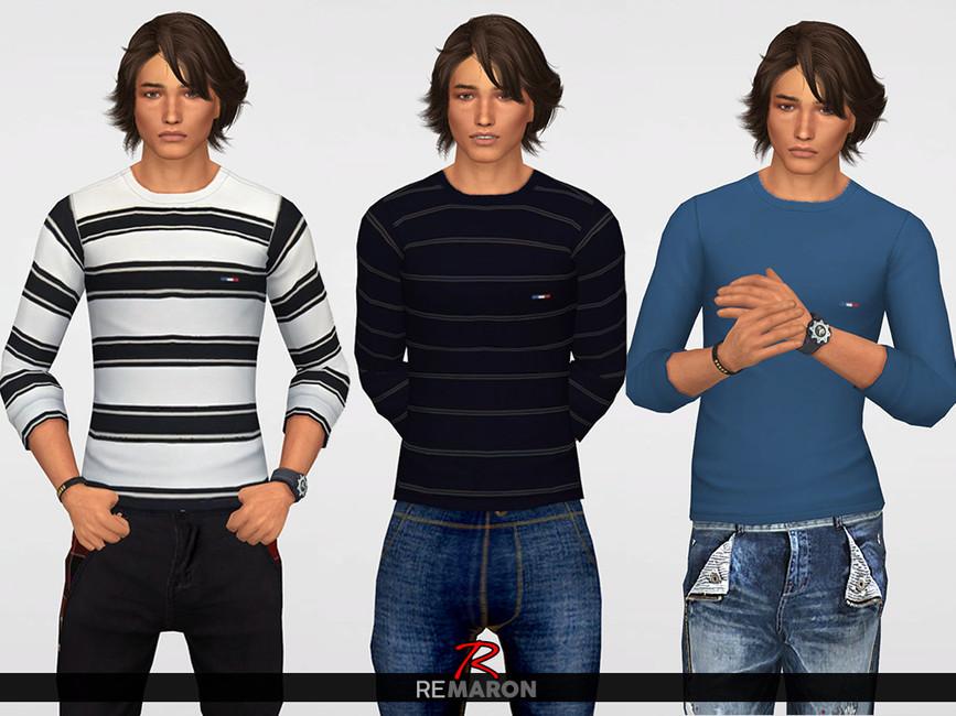 Моды мужские рубашки Симс 4 (картинка 2)