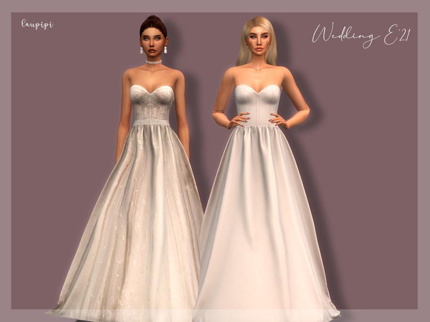 Моды свадебное платье Симс 4