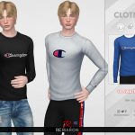 Мужской свитер Champion Sweater for Men 01 Симс 4