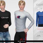 Мужской свитер Champion Sweater for Men 01 Симс 4
