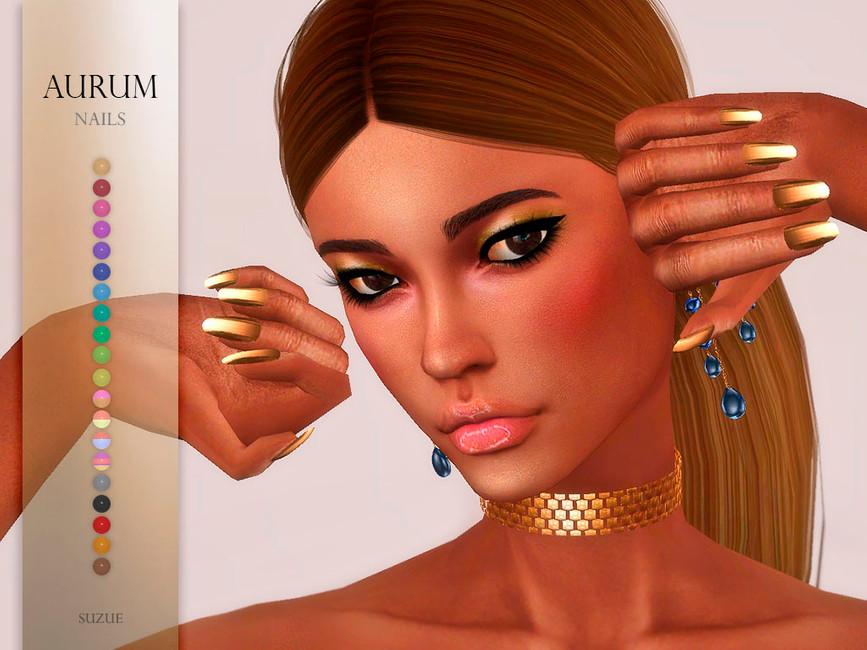 Ногти Aurum Nails Симс 4