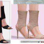 Обувь Lycra Cut Out Heels Симс 4