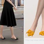 Обувь на каблуке Kitten Heel Shoes With Bow 02 Симс 4