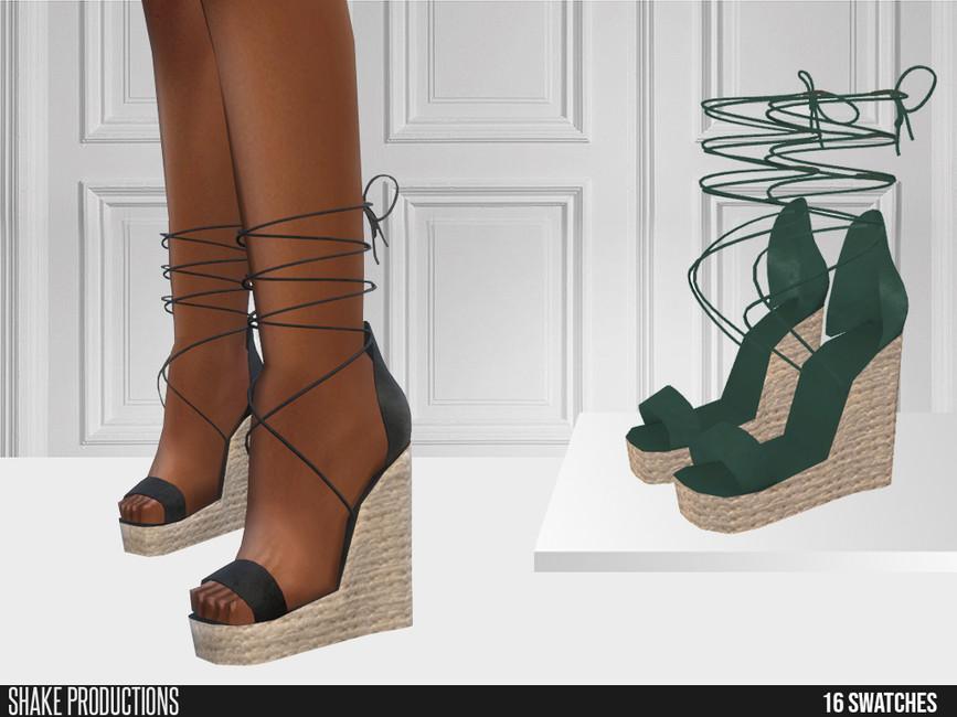 Обувь на высокой платформе Симс 4