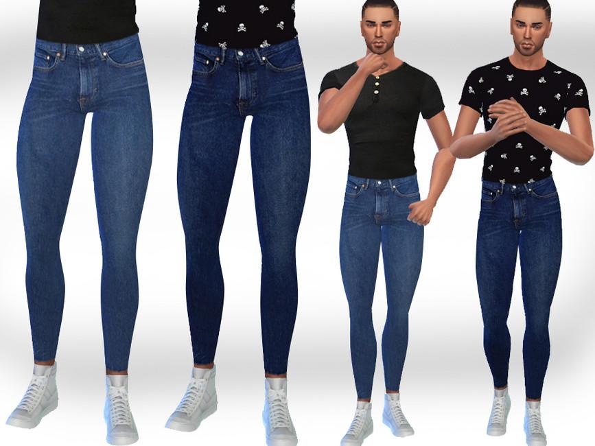 Одежда джинсы для мужчин Симс 4