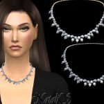 Ожерелье Diamond Cluster Necklace Симс 4