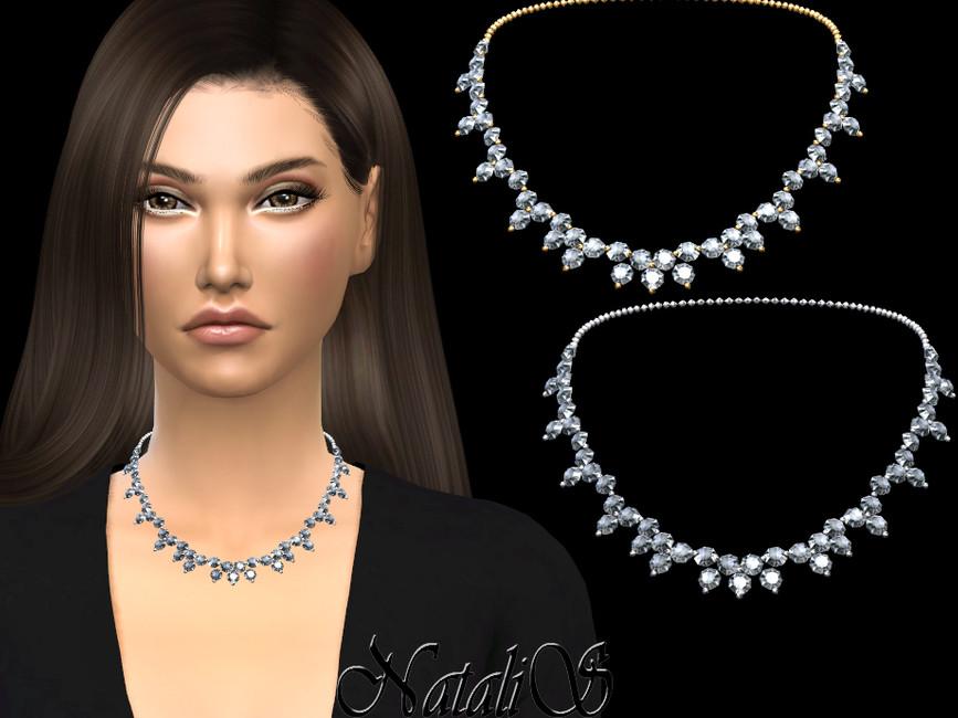 Ожерелье Diamond Cluster Necklace Симс 4
