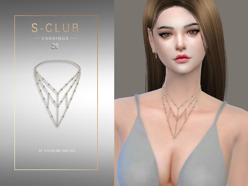 Ожерелье ts4 WM Necklace 202026 Симс 4