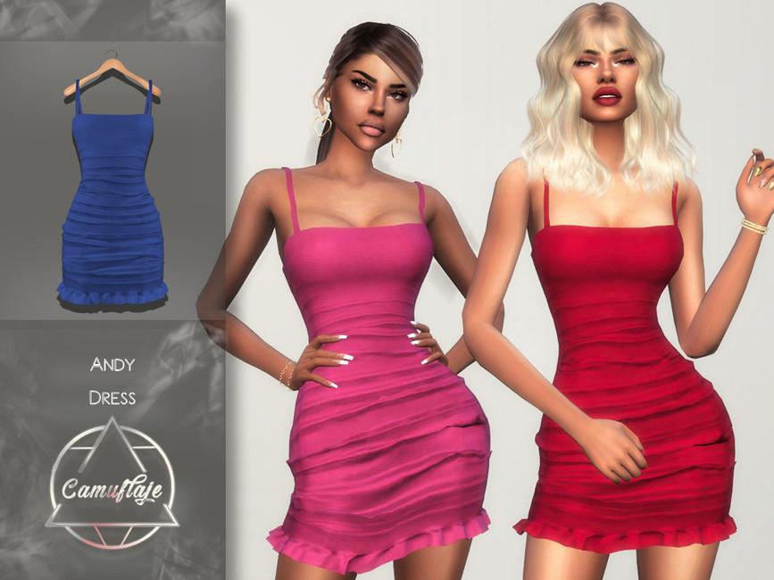 Платье Andy (Dress) Симс 4