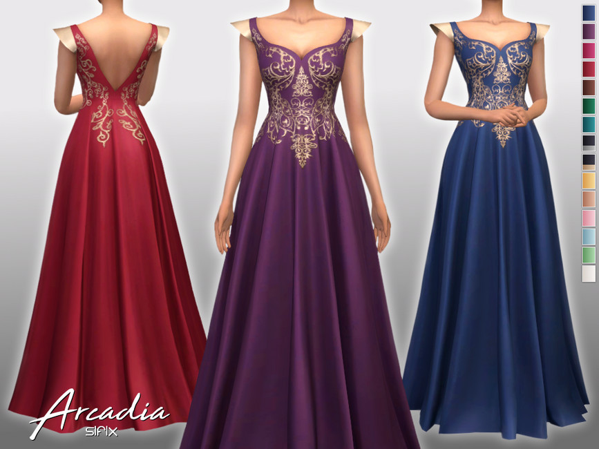 Платье Arcadia Dress Симс 4