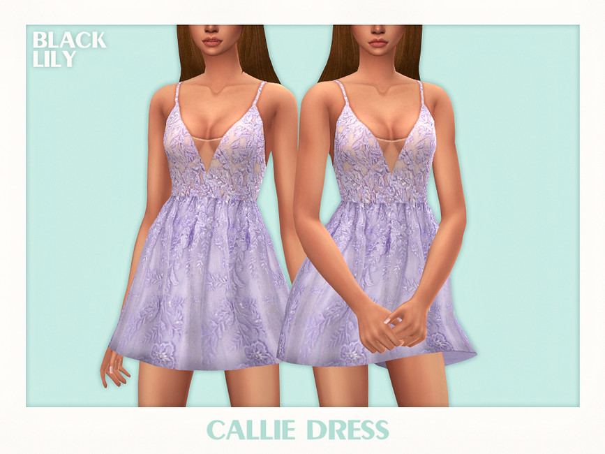 Платье Callie Dress Симс 4
