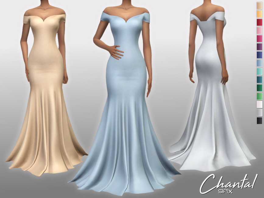 Платье Chantal Dress Симс 4
