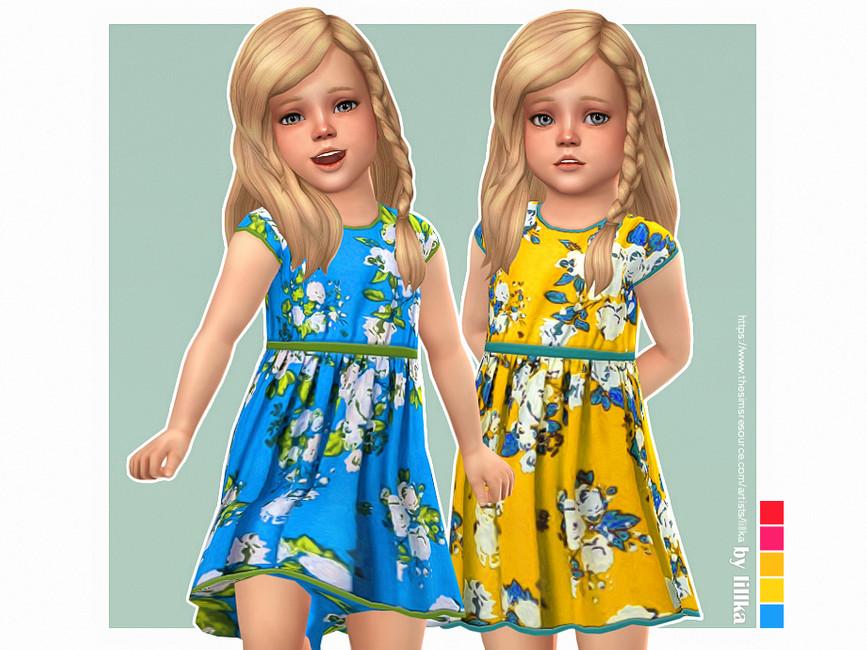Платье для девочек Dinah Dress Симс 4