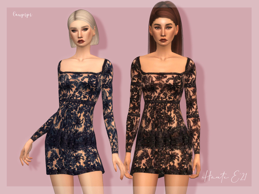 Платье Embellished Dress - DR388 Симс 4