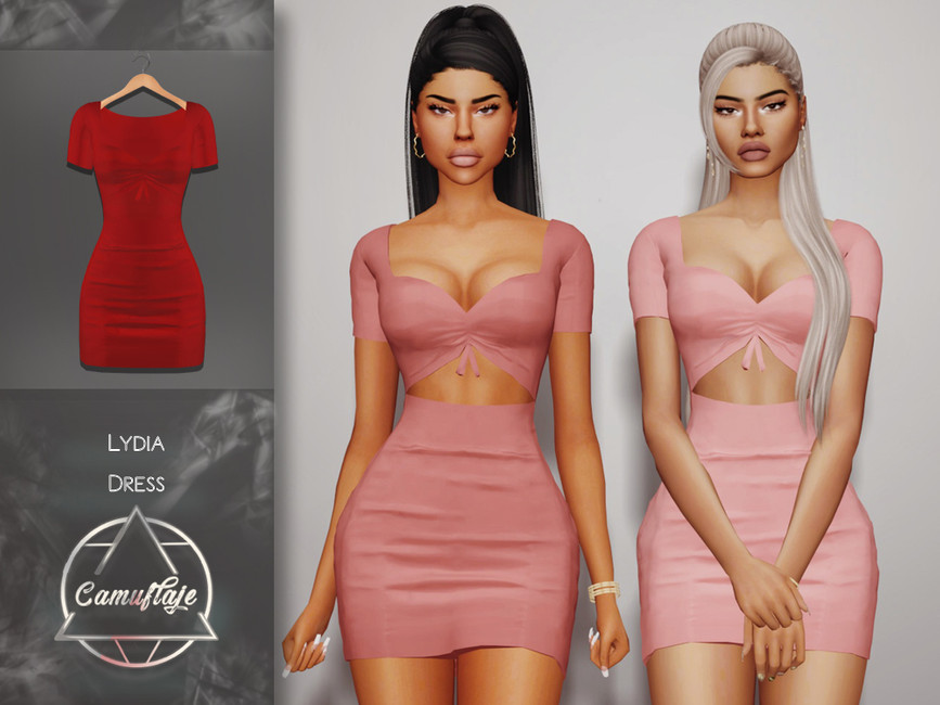 Платье Lydia (Dress) Симс 4