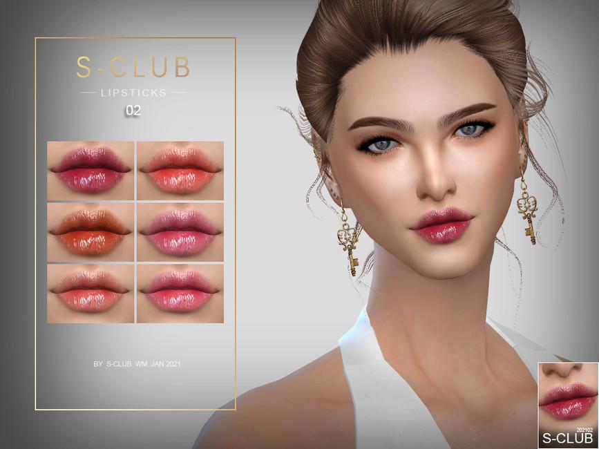 Помада WM ts4 Lipstick 202102 Симс 4
