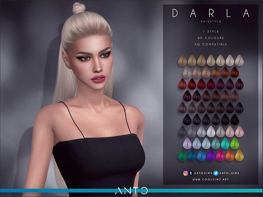 Прическа Darla (Hairstyle) Симс 4