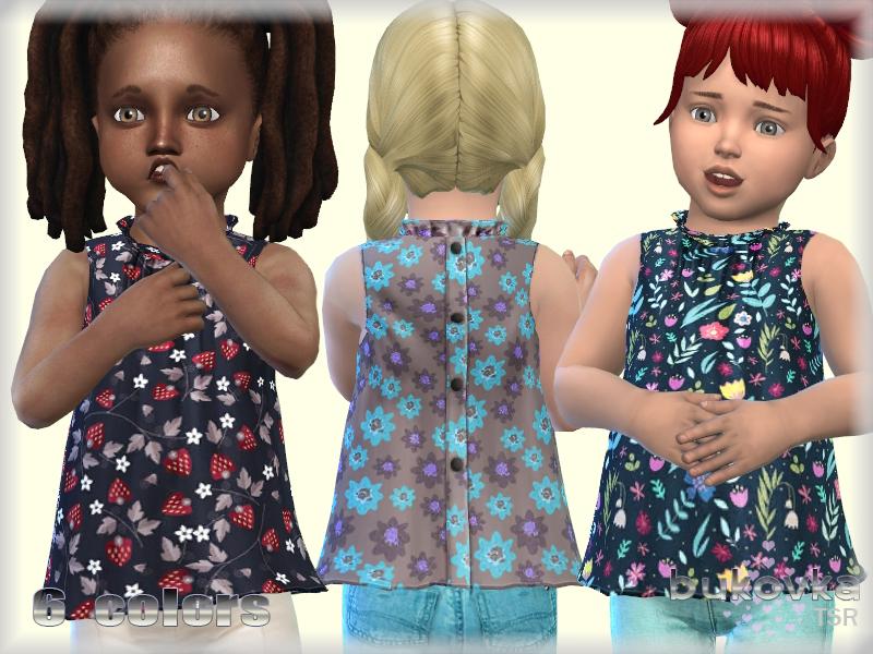 Рубашка для детей Shirt Toddler Симс 4
