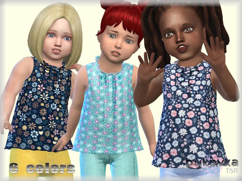 Рубашка для детей Shirt Toddler Симс 4 (картинка 2)