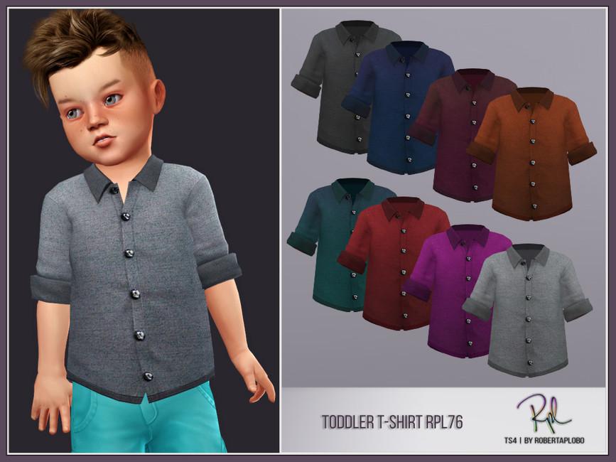 Рубашка для мальчиков Симс 4