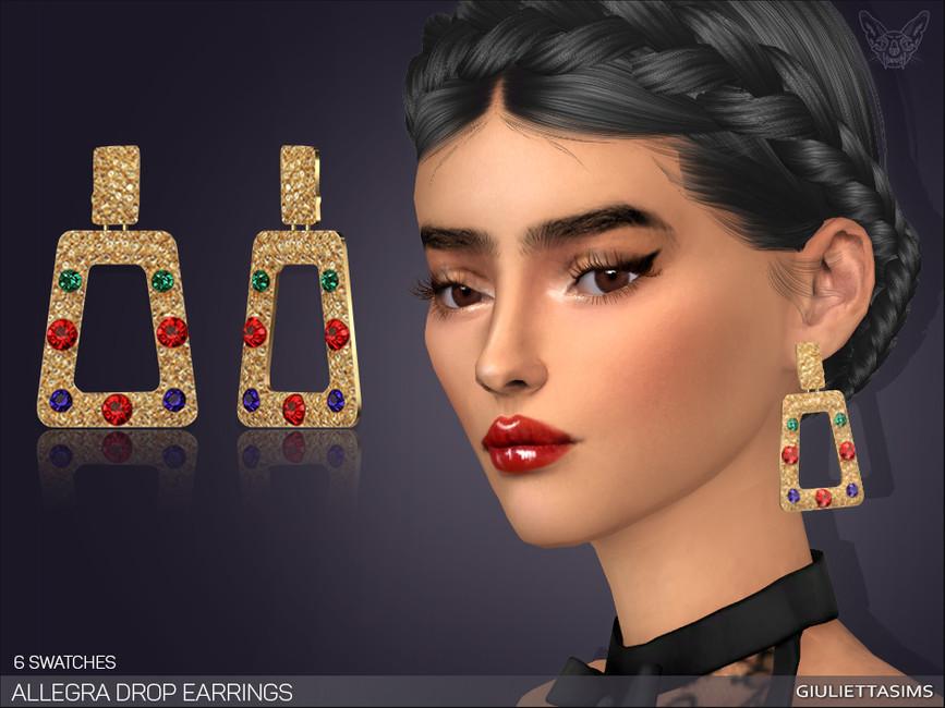 Сережки Allegra Drop Earrings Симс 4