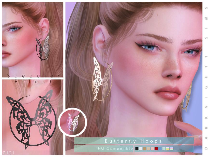 Сережки Butterfly Earrings Симс 4
