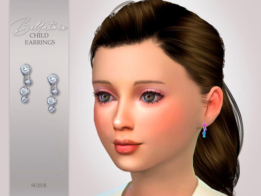 Сережки для детей Bellatrix Child Earrings Симс 4
