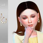 Сережки для детей Pearl Child Earrings Симс 4