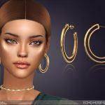 Сережки Echo Hoop Earrings Симс 4