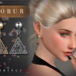 Серьги Bobur Earrings 34 Симс 4