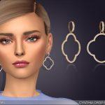 Серьги Cynthia Drop Earrings Симс 4