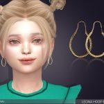 Серьги для детей Leona Hoop Earrings For Kids Симс 4