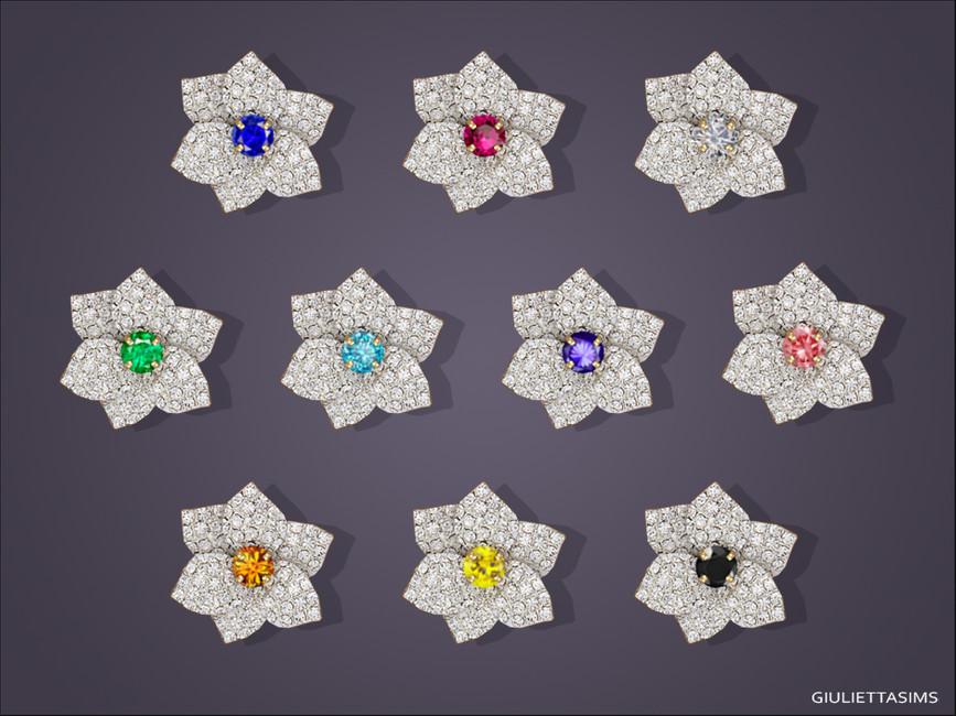 Серьги для детей Mia Flower Stud Earrings For Toddlers Симс 4 (картинка 2)