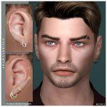 Серьги для мужчин Adam Earrings Симс 4