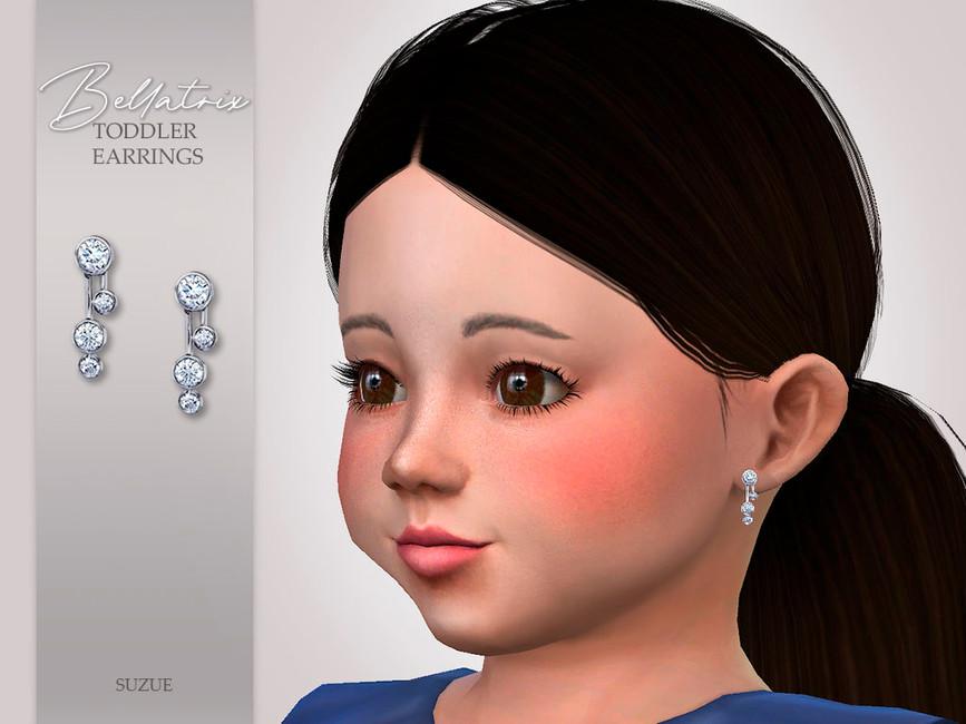 Серьги для тоддлеров Bellatrix Toddler Earrings Симс 4