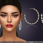 Серьги Marquise Diamond Hoop Earrings Симс 4
