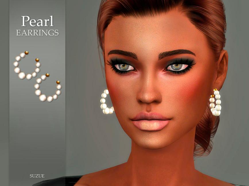Серьги Pearl Earrings Симс 4