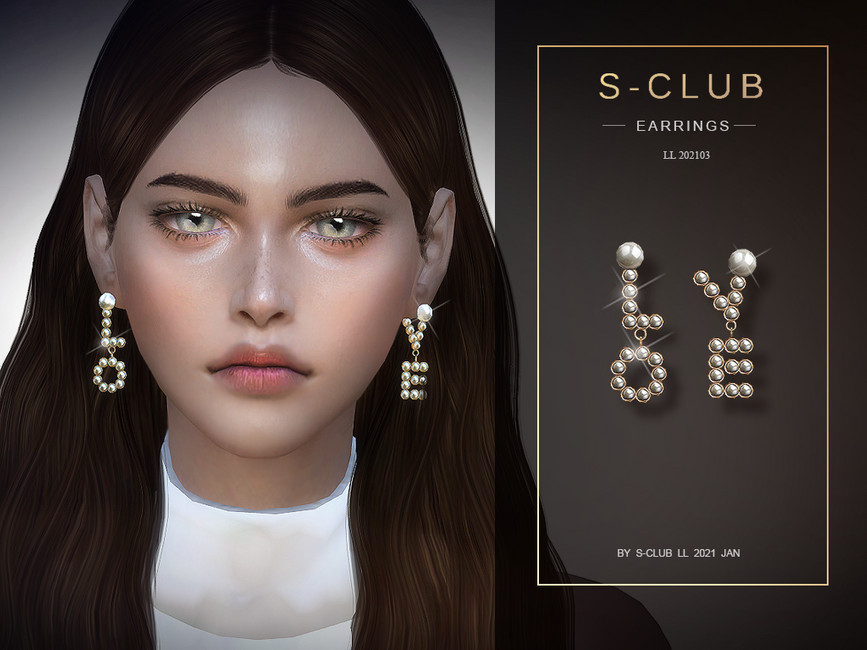 Серьги ts4 LL EARRINGS 2021023 Симс 4