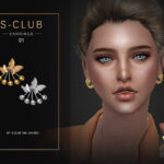 Серьги ts4 WM EARRINGS 202101 Симс 4