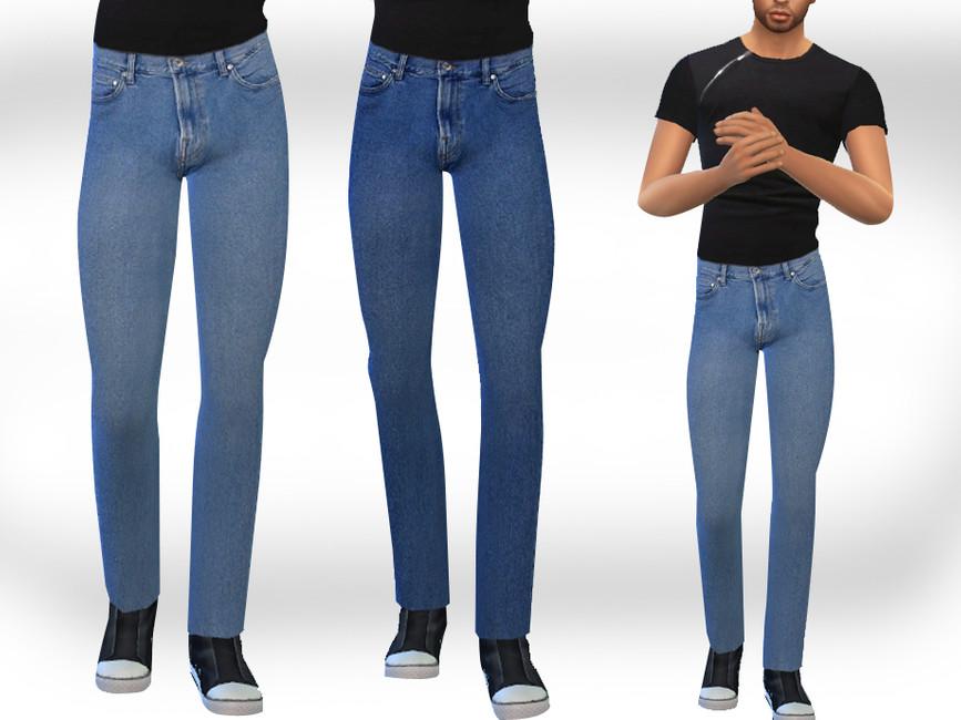 Скачать джинсы для мужчин Симс 4