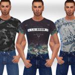 Скачать футболки для мужчин Симс 4