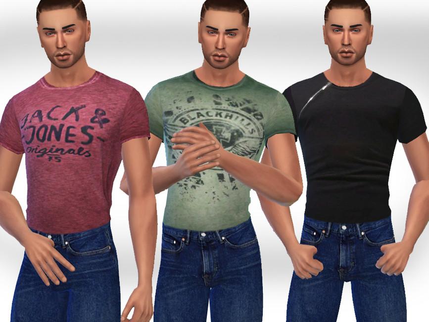 Скачать футболки для мужчин Симс 4 (картинка 2)